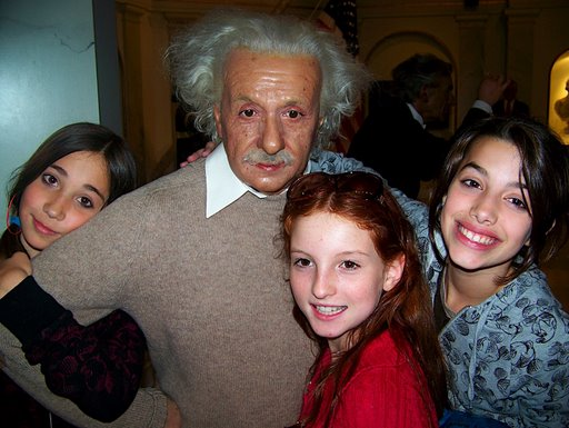 Einstein and the girls.JPG